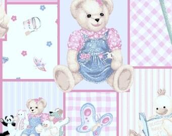 BJT Blossom and Friends, Blue Jean Teddy Bear, Pink Teddy Bear, Bear Fabric, Stuffed Toys, 01022A