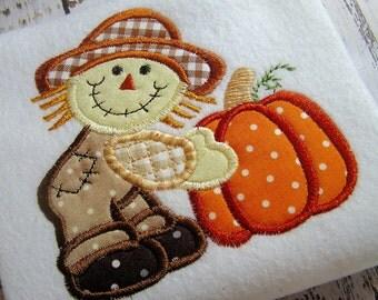 SALE 30% off Applique scarecrow pumpkin machine embroidery design, appliqué pumpkin, applique scarecrow, embroidery pumpkin, applique fall