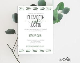 Vintage Arrow Wedding Invitation Set