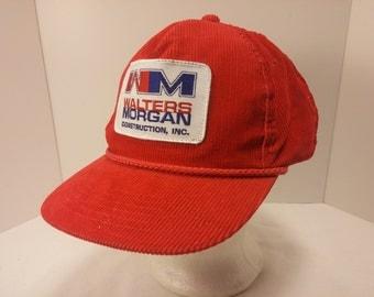 Vintage 1980s Trucker Ball Cap - Walter Morgans Construction, Inc. -  Engineering, Construction, Rockabilly, Retro, Mens Accessories