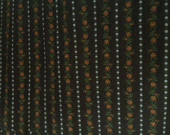 vintage floral fabric 2 yards