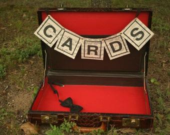Vintage Brown Leather Briefcase, Suitcase, Brown, Orange and Brown, Faux Animal Skin , Wedding Card Box, Wedding Decor, Home Decor