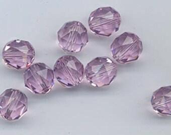 Twelve Swarovski crystals - art 5025 - 8 mm - light amethyst
