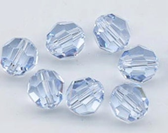 Twelve vintage Swarovski crystals: art 5000 - 8 mm - discontinued color lavender