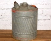 Galvanized Metal Gas Can 5 Gallon with Handle