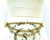 40% Off Sale Vintage 80s Gold Metal Hanging Chain Belt M L Vtg 1980s Coin NYC Accessocraft Belt Medium Large