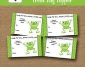Jesus Loves You Treat Bag Topper | Sunday School Goody Bag | Valentine Frog Treat Topper | DIY PRINTABLE | Christian Card | Instant Download