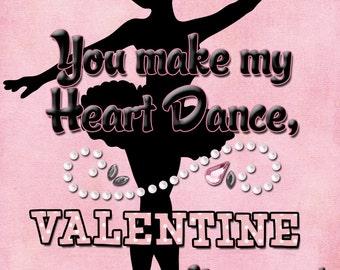 Ballerina Valentine Cards