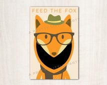 Feed the Fox Party Game - Hipster Party Animals - Fox party supplies- woodland party - {instant download}