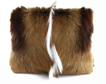 BACK IN STOCK - Springbok Calf Hair & Leather Statement Clutch | Springbok Clutch | Fur Bag | Foldover Clutch | Hair On | Handbag | Handmade