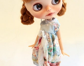 Sweet Shabby Chic Overalls Coveralls for Blythe Neemo