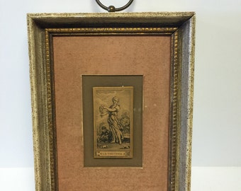 Old framed art, old frame, vintage framed art, vintage frame