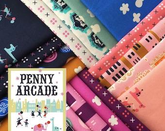 Penny Arcade - Fat Quarter Bundle of 18 Cotton prints - Kim Kight for Cotton + Steel - PENNY-FQ