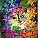 8x11 Giclee Print:  Kitty In the Walled Garden