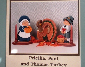 Thanksgiving Pilgrims Thomas Turkey Tole Painting Pattern Packet Tole Temptations Britton Wright Pumpkin Holiday