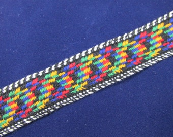 Colorful Woven Style Trim - 1 1/2 Yards