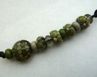 retro handmade lampwork glass beads