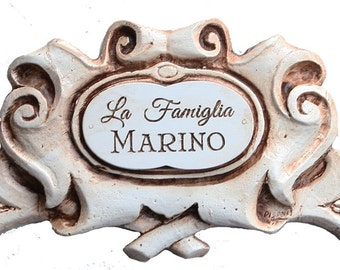 La Famiglia Scroll Personalized Door Topper