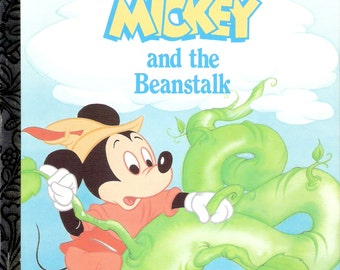 Walt Disney's Mickey and the Beanstalk Vintage Little Golden Book Adapted by Dina Anastatio Illustrated by Sharon Ross First Edition