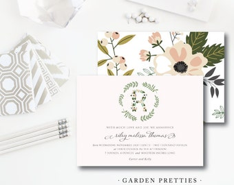 Garden Pretties Baby Shower Invitations