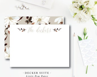 Flat A2 Stationery Notes with Blank Envelopes | Sothern Magnolia Decker Stationery | Printed by Darby Cards Collective