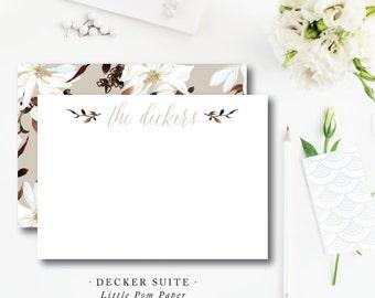 Southern Magnolia Decker Stationery
