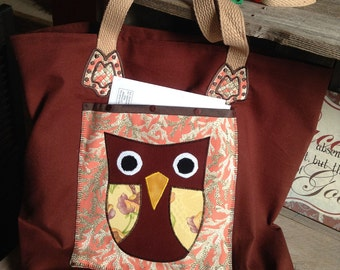 Tote Bag with Owl-Applique