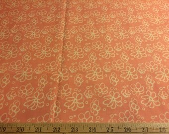 """Tina Givens Fairy Tip Toes Daisy Lace in pink TG63 100% cotton quilting fabric 44"""" wide sold by the yard"""