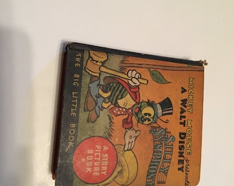 mickey mouse silly symphony big little book 1934 whitman