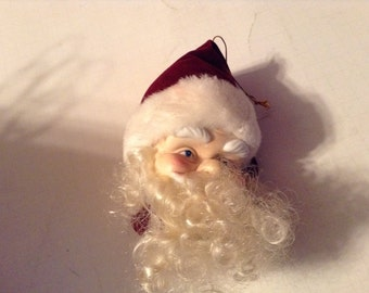 vintage santa head christmas ornament