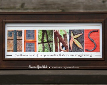 THANKS - Thanksgiving Alphabet Photography Artwork - 7.5x16 inches