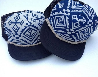 Riptide Boho Beach Trucker Hat by Roupolimama