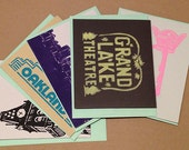 Variety Pack - ANY 5 Oakland or CA Themed Greeting Cards