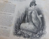 4 X 1889, Victorian Fashion Magazines French La Mode Illustree,