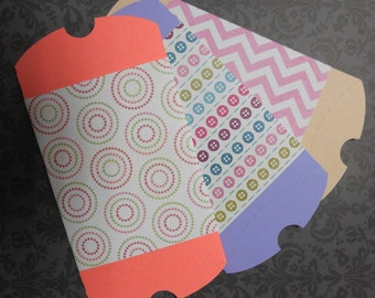 Favor Boxes, Chevron, Buttons and Circles Set of 3