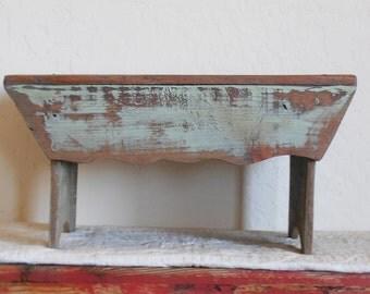 Antique Vintage Primitive Stool / Bench