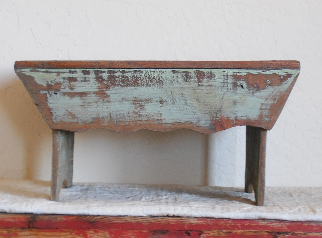 Antique Vintage Primitive Stool Bench
