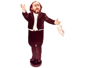 Luciano Pavarotti Hand Painted 2D Art Figurine