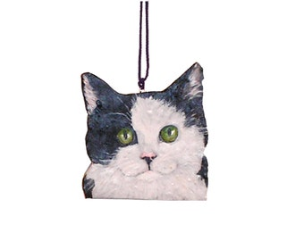 Custom Cat  Pet  Portrait Christmas Ornament