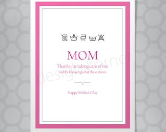 Illustrated Laundry Mother's Day or Birthday Card