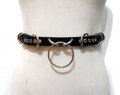 Curvis Belt. Double Buckle Ring Bondage Waist Belt