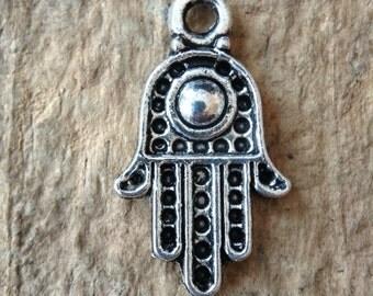 10pc Hamsa Charms, Jewelry DIY, Jewelry Making, DIY, Craft Supplies, Jewelry Supplies