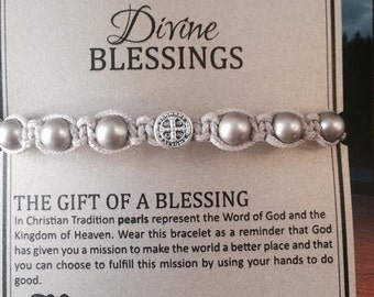 My Saint My Hero Divine Blessings Bracelet New Colors! Platinum Pearl & Rose Gold