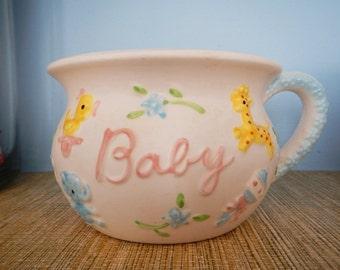 Vintage Napcoware Napco Ceramic Pottery Made in Japan Baby Cup Shaped Planter Vase
