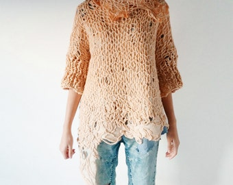 100% merino wool sweater, felted sweater, knitted sweater, sweater de lana merino