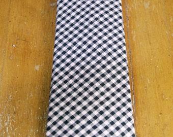 Slim Pink Gingham Cotton Tie