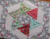 Snowman Winter Christmas Spinning Stars Quilted Table Runner