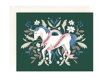 Fanastic Birthday Wishes Unicorn Card