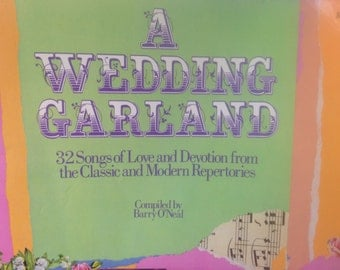 A Wedding Garland Book of Songs and Devotions, Paper Ephemera, Vintage Musical Note Papers