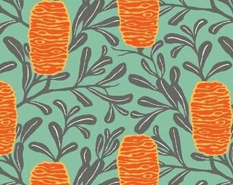 Melba by Emma Jean Jansen for Ella Blue - Banksia - Orange - Fat Quarter - FQ - Cotton Quilt Fabric 516